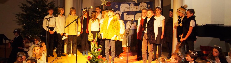 Děti na vánoční besídce